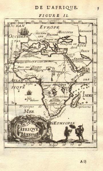 AFRICA. 'Afrique moderne'. Congo Abyssinia Biledulgerid &c. MALLET 1683 map