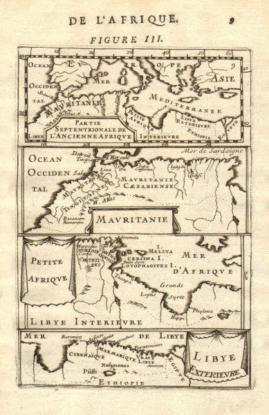 Associate Product NORTH AFRICA. Morocco Tunisia Libya. 'Mauritanie'. Malta Melita. MALLET 1683 map