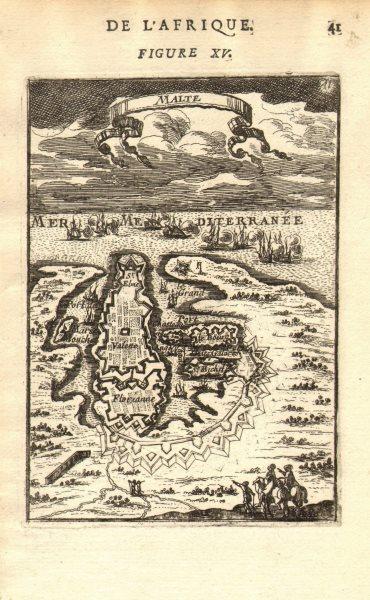 Associate Product VALETTA. Plan of the port & fortifications. 'Malte'. Malta. MALLET 1683 map