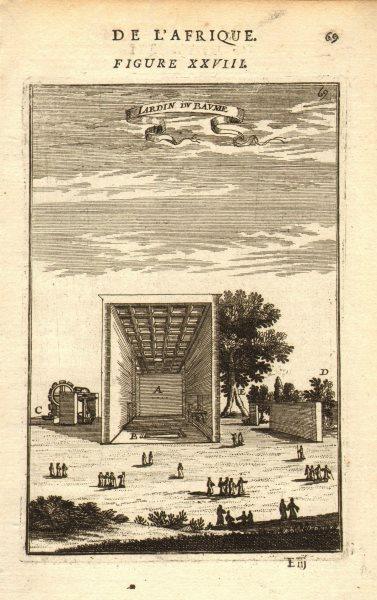 Associate Product CAIRO Garden of Baume Al-Matariyyah Mataria Egypt 'Jardin de Baume'. MALLET 1683