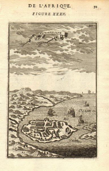 Associate Product ISLAND OF MOZAMBIQUE. Ilha de Moçambique. Lumba, Mozambique. MALLET 1683 map