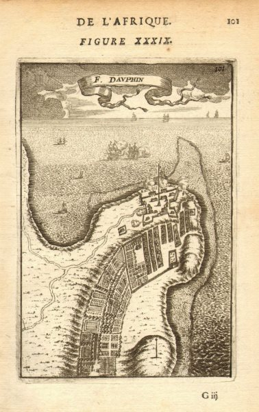 Associate Product MADAGASCAR. 'Fort Dauphin' (Tôlanaro/Tolanaro/Tolagnaro). Map. MALLET 1683