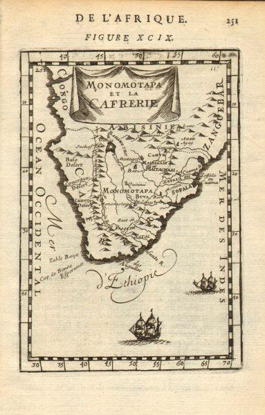 Associate Product SOUTHERN AFRICA Monomotapa (Mutapa Kingdom) Cafrerie (Kaffraria) MALLET 1683 map