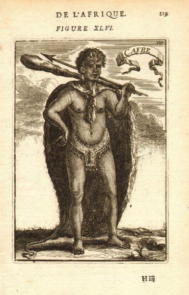 Associate Product SOUTH AFRICA COSTUME. Xhosa warrior Spear club 'Cafre' Kaffir. MALLET 1683