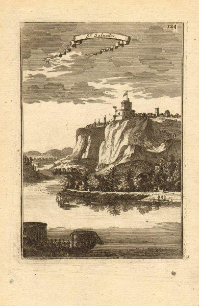 Associate Product ANGOLA. São Salvador (M'banza-Kongo). 'St Salvador', City of Congo. MALLET 1683
