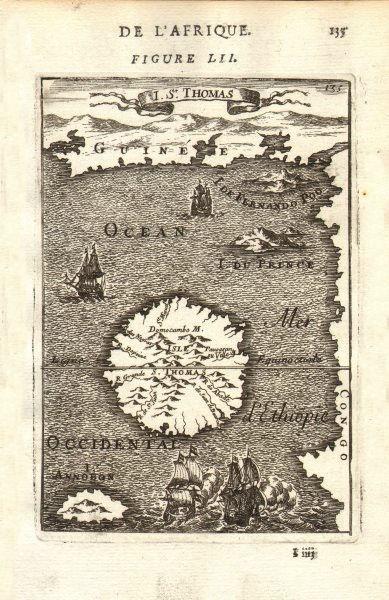 Associate Product GULF OF GUINEA. Sao Tome Principe Annobon Fernando Po (Bioko). MALLET 1683 map
