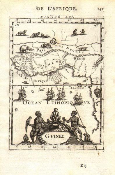Associate Product WEST AFRICA. Guinea. Nigeria Ghana Benin Togo Sierra Leone. MALLET 1683 map