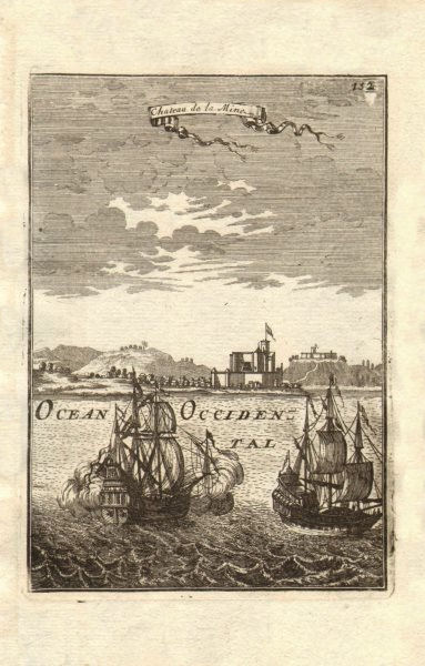 ELMINA CASTLE GHANA. St George of the Mine São Jorge da Mina Slaves. MALLET 1683