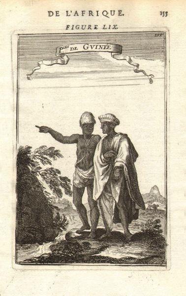 Associate Product WEST AFRICA. People of Guinea. 'Peuples de Guinée'. Costume. MALLET 1683 print