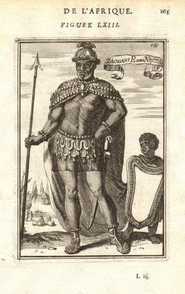 Associate Product TIMBUKTU. Dendi King of Tombut. 'Zaogani Roi des Negres'. W Africa. MALLET 1683