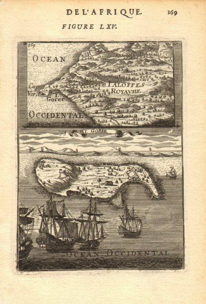 Associate Product DAKAR. Île de Gorée & Fort; Cape Vert Verde. Senegal. Slavery. MALLET 1683 map