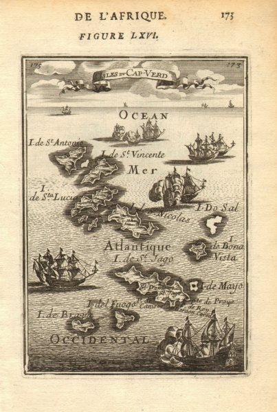 Associate Product CABO/CAPE VERDE ISLANDS. Santiago São Vicente Sal Boa Vista &c. MALLET 1683 map
