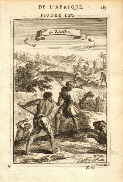 Associate Product NORTH AFRICA. Hunting lions in the Sahara. 'Peuples du Zaara'. MALLET 1683