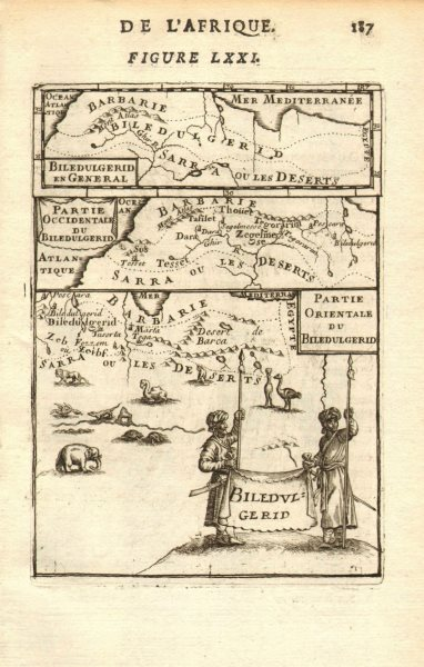 Associate Product NORTH AFRICA. 'Biledulgerid', a former North African country. MALLET 1683 map