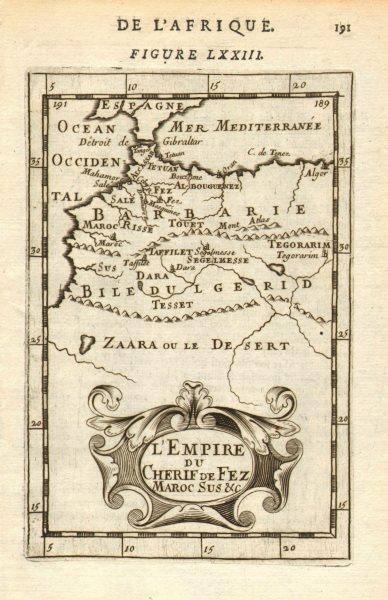 Associate Product MOROCCO. 'Empire du Cherif de Fes Maroc' Marrakech Fez Tangiers. MALLET 1683 map