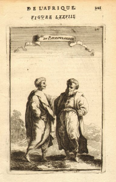 NORTH AFRICA. People of Biledulgerid (former North African state). MALLET 1683