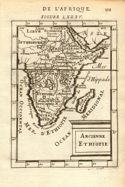Associate Product SUB-SAHARAN AFRICA. 'Ancienne Ethiopie'. Ancient Ethiopia. MALLET 1683 old map