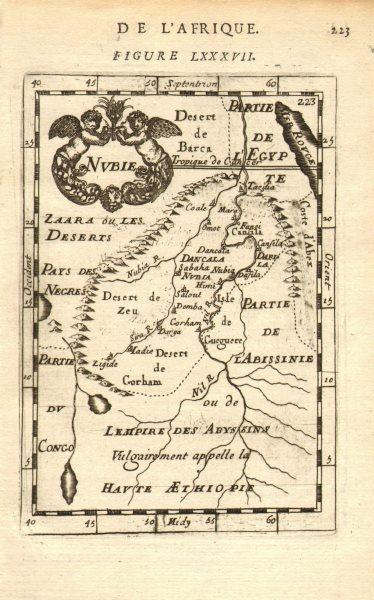Associate Product NUBIA. 'Nubie'. Nile Valley. Sudan Ethiopia Egypt. MALLET 1683 old antique map