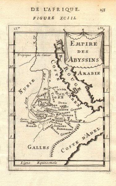 Associate Product ABYSSINIA. Ethiopian 'Empire des Abyssins'. Blue Nile. Eritrea. MALLET 1683 map