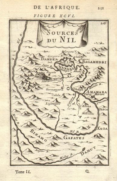 Associate Product ABYSSINIA. Source of the Blue Nile, Ethiopia. Lake Tana. Nil. MALLET 1683 map