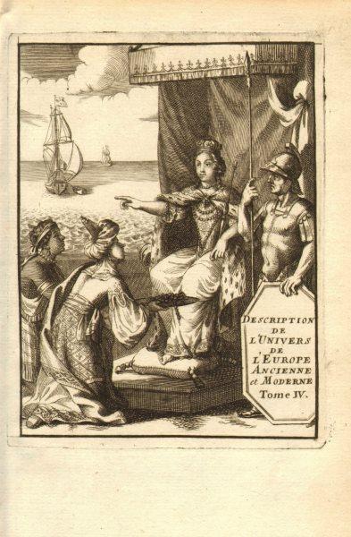 Associate Product MALLET. Description de l'Univers. Europe. Volume 4 title page. MALLET 1683