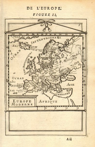 Associate Product EUROPE. 'Europe Moderne'. Rivers countries. Very decorative. MALLET 1683 map