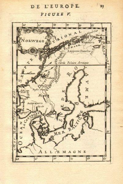 Associate Product NORWAY. Oslo Bergen Stavanger Trondheim. Scandinavia. 'Norwege'. MALLET 1683 map