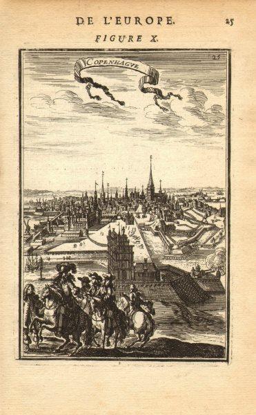 COPENHAGEN KØBENHAVN. City & fortifications. Denmark. Decorative. MALLET 1683
