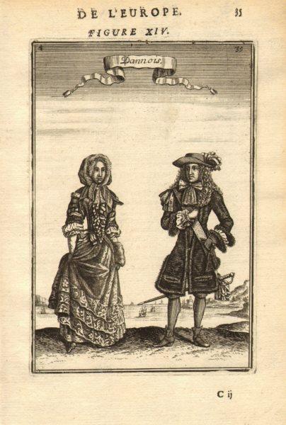 Associate Product DENMARK COSTUME. Danish man & woman wearing 17C dress. 'Dannois'. MALLET 1683