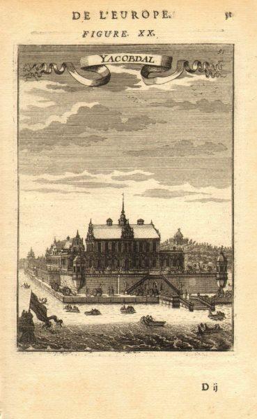 Associate Product SWEDEN. Jakobsdal (Ulriksdal) Palace, Solna, Stockholm. MALLET 1683 old print