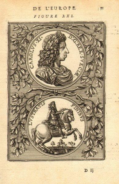 Associate Product KING CHARLES KARL XI SWEDEN 'Carolus Rex Sveciae' Lustratis Finibus. MALLET 1683