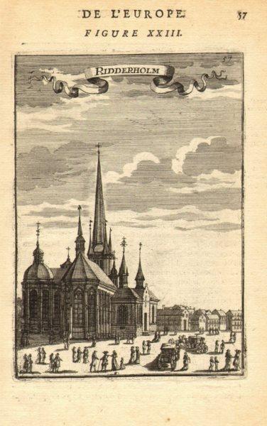 Associate Product SWEDEN Riddarholmen (Riddarholmskyrkan) church Stockholm. Carriages. MALLET 1683