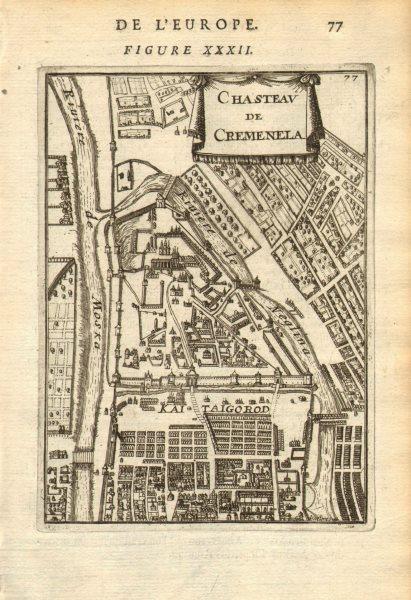 Associate Product MOSCOW МОСКВА. Chasteau de Cremenela (Kremlin Кремль). Russia. MALLET 1683 map
