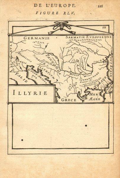 Associate Product BALKANS. Illyria 'Illyrie'. Danube basin. Pannonia Mysia. MALLET 1683 old map