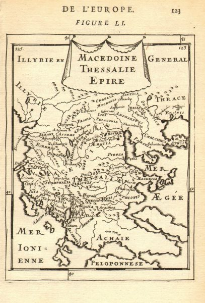 Associate Product NORTHERN GREECE. Macedonia Thessaly & Epirus. Ionian islands. MALLET 1683 map