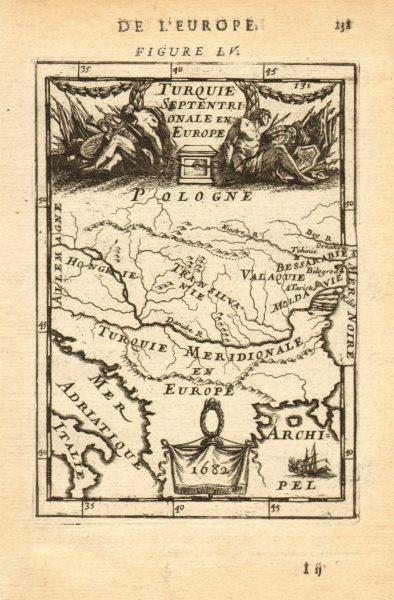 Associate Product DANUBE Balkans Romania Hungary Serbia Bulgaria. European Turkey. MALLET 1683 map