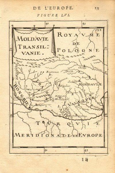 Associate Product ROMANIA & MOLDOVA. Moldavia & Transylvania. Hungary. MALLET 1683 map