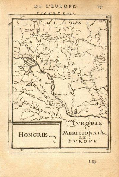 HUNGARY Slovakia Transylvania Croatia Slovenia Danube 'Hongrie'. MALLET 1683 map