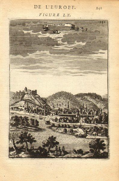 Associate Product SLOVAKIA. Bratislava, known as Pressburg ('Presbourg') < 1919. MALLET 1683