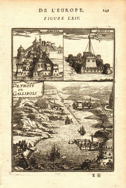 Associate Product DARDANELLES. Sestos; Abydos; Detroit Gallipoli (Gallipoli Strait). MALLET 1683