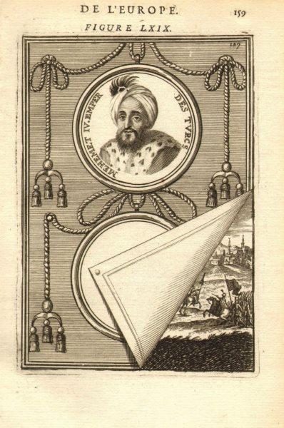 Associate Product MEHMED IV. Sultan of the Ottoman Empire. Turkey. Mehmet Mehemet. MALLET 1683