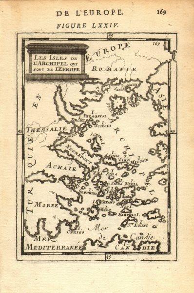 Associate Product AEGEAN. Greece & Greek Islands Sporades Cyclades Saronic Ionian. MALLET 1683 map