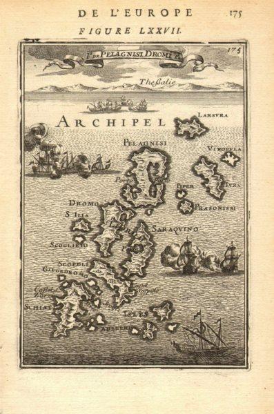 Associate Product SPORADES. Kyra Panagia Alonissos Skiathos Skopelos. Greece. MALLET 1683 map