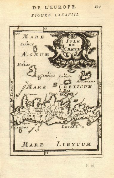 Associate Product CANDIA/CRETE & CYCLADES. Milos Sifnos Astypalaia. Aegean. MALLET 1683 old map