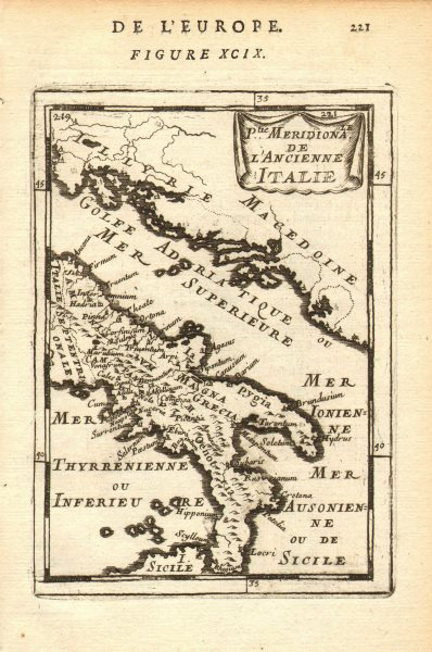 Associate Product ANCIENT ITALY SOUTH. Magna Graecia. Ancienne Italie Meridionale. MALLET 1683 map