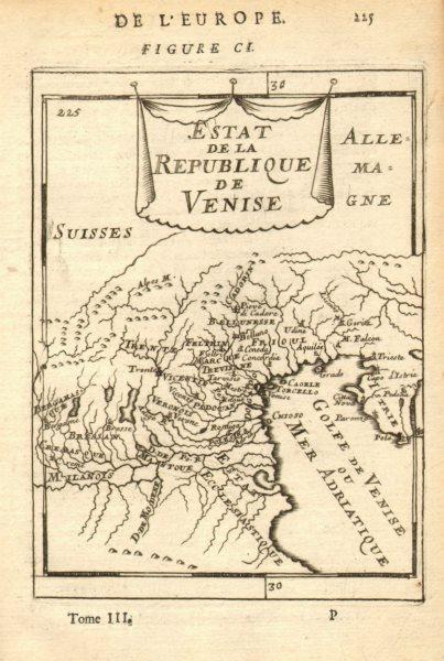 Associate Product REPUBLIC OF VENICE. 'Estat de la Republique de Venise'. Veneto. MALLET 1683 map