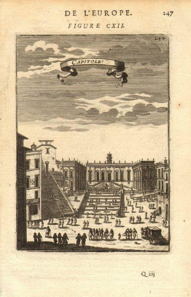 Associate Product ROME. Decorative view Capitoline Hill. 'Capitole'. Carriage. MALLET 1683 print