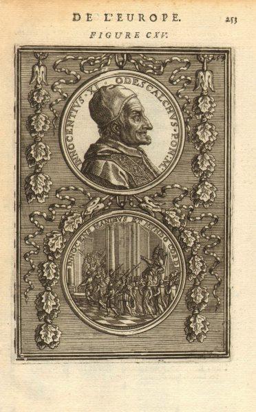 Associate Product POPE INNOCENT XI. 'Innocentius XI. Odescalchus. Pon. M'. MALLET 1683 old print