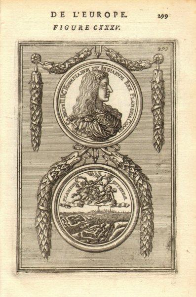 Associate Product KING CARLOS II OF SPAIN. Carolus Hispaniarum Indiarum Rex Flandria. MALLET 1683