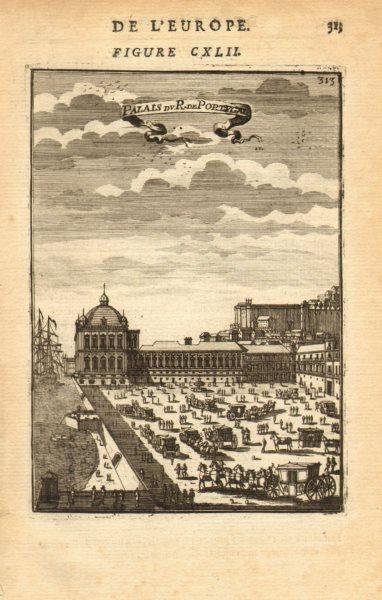 Associate Product LISBOA (LISBON). Ribeira Palace (destroyed in 1755 earthquake). MALLET 1683